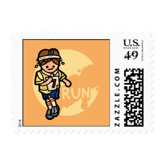 mail messenger. postage stamp