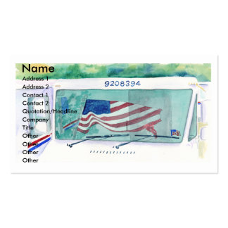 Mail Postal Truck and Flag Business Card