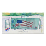 Mail Postal Truck and Flag Print