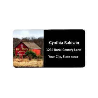 Mail Pouch Barn Custom Address Label