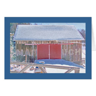 """Mail Pouch"" barn on the National Pike Card"