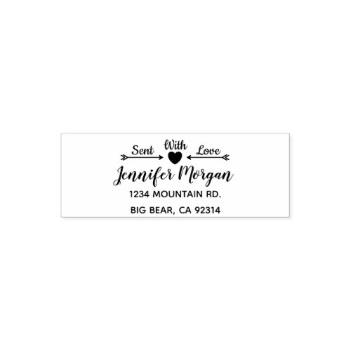 Mail Sent with Love Personalized Self_inking Stamp