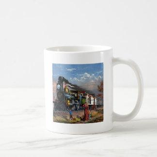 MAIL TRAIN ~ CLASSIC WHITE COFFEE MUG