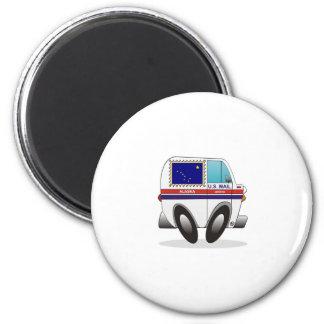 Mail Truck ALASKA 2 Inch Round Magnet