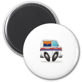 Mail Truck ARIZONA 2 Inch Round Magnet