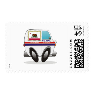 Mail Truck CALIFORNIA Postage Stamps