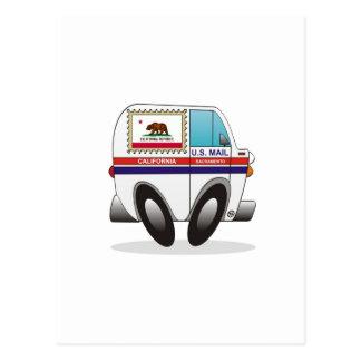 Mail Truck CALIFORNIA Postcard