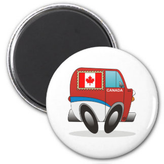 Mail Truck Canada 2 Inch Round Magnet