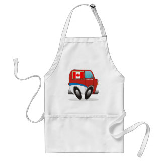 Mail Truck Canada Adult Apron