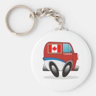 Mail Truck Canada Basic Round Button Keychain