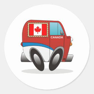 Mail Truck Canada Classic Round Sticker