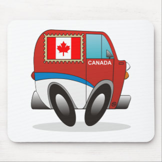 Mail Truck Canada Mouse Pad