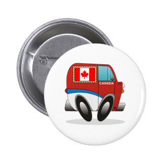 Mail Truck Canada Pinback Buttons