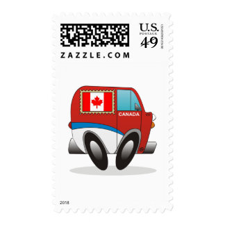 Mail Truck Canada Postage