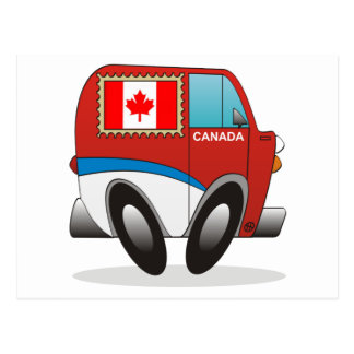Mail Truck Canada Postcard