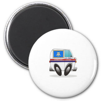 Mail Truck CONNECTICUT 2 Inch Round Magnet