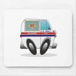 Mail Truck DELAWARE Mouse Pad