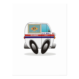 Mail Truck DELAWARE Postcard