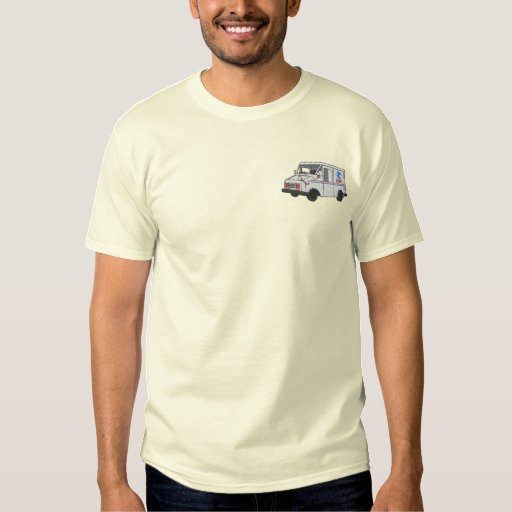 Mail Truck Embroidered T-Shirt