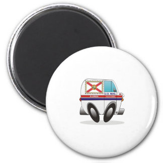 Mail Truck FLORIDA 2 Inch Round Magnet