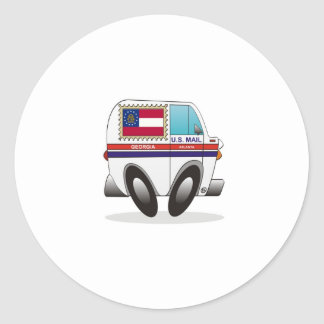 Mail Truck GEORGIA Classic Round Sticker