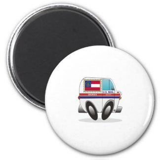 Mail Truck GEORGIA 2 Inch Round Magnet