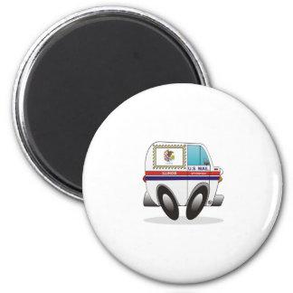 Mail Truck ILLINOIS 2 Inch Round Magnet
