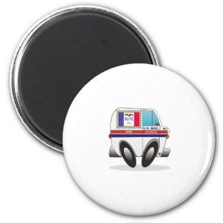 Mail Truck IOWA 2 Inch Round Magnet