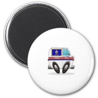 Mail Truck KANSAS 2 Inch Round Magnet
