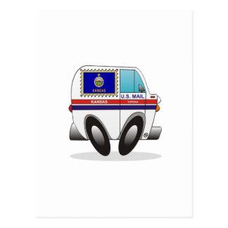 Mail Truck KANSAS Postcard