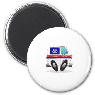Mail Truck LOUISIANA 2 Inch Round Magnet