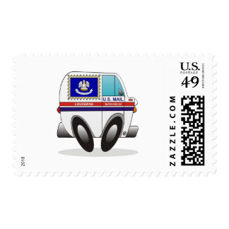 Mail Truck LOUISIANA Postage