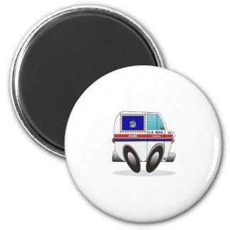 Mail Truck MAINE 2 Inch Round Magnet