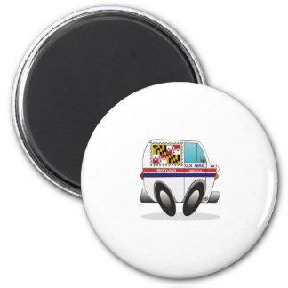 Mail Truck MARYLAND 2 Inch Round Magnet