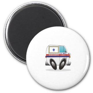 Mail Truck MASSACHUSETTS 2 Inch Round Magnet
