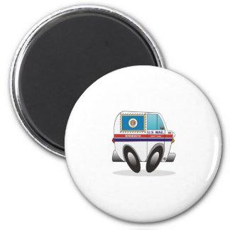 Mail Truck MINNESOTA 2 Inch Round Magnet