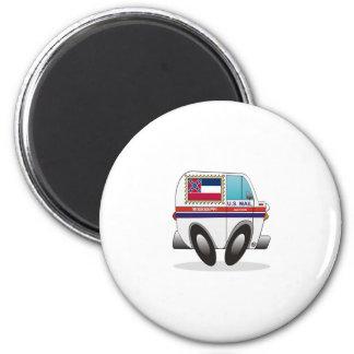 Mail Truck MISSISSIPPI 2 Inch Round Magnet