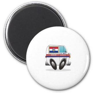 Mail Truck MISSOURI 2 Inch Round Magnet