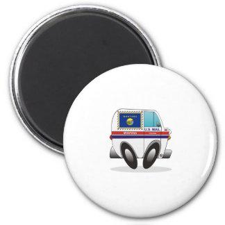 Mail Truck MONTANA 2 Inch Round Magnet