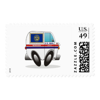 Mail Truck NEBRASKA Stamps