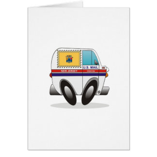 Mail Truck NEW JERSEY Card