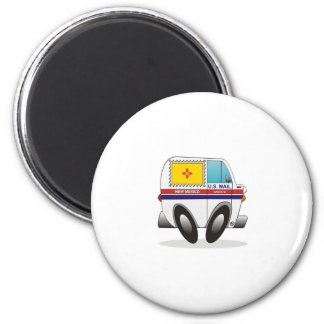 Mail Truck NEW MEXICO 2 Inch Round Magnet