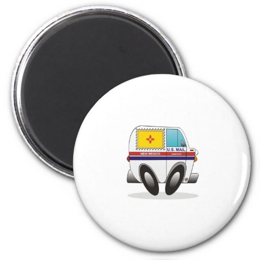 Mail Truck NEW MEXICO Refrigerator Magnet