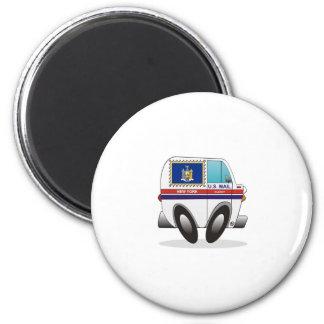 Mail Truck NEW YORK 2 Inch Round Magnet