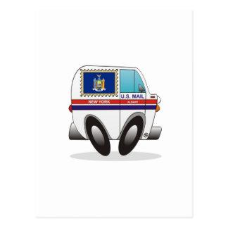 Mail Truck NEW YORK Postcard