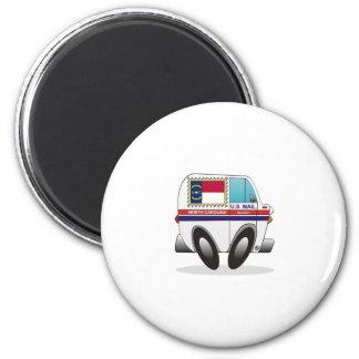 Mail Truck NORTN CAROLINA 2 Inch Round Magnet