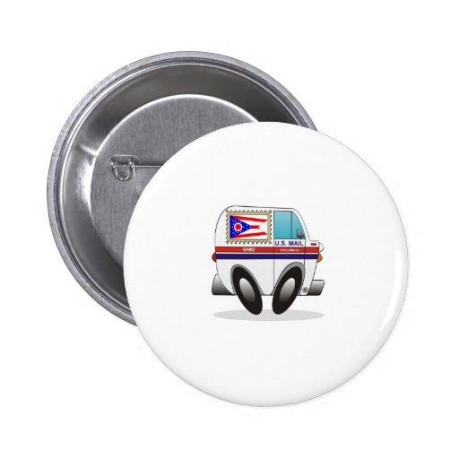 Mail Truck OHIO 2 Inch Round Button
