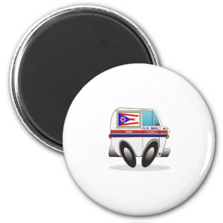 Mail Truck OHIO 2 Inch Round Magnet