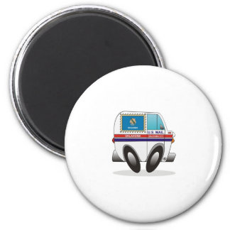 Mail Truck OKLAHOMA 2 Inch Round Magnet