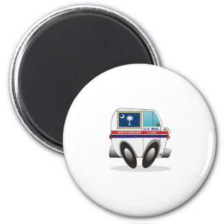 Mail Truck SOUTH CAROLINA 2 Inch Round Magnet